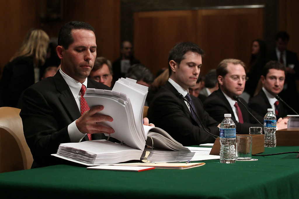 daniel sparks in goldman sachs executives testify at senate hearing on financial crisis