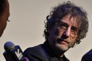 "Writer and executive producer Neil Gaiman takes part in a Q&A following the premiere the Good ""Omens: The Nice and Accurate"" SXSW Event during the 2019 SXSW Conference and Festivals at ZACH Theatre on March 09, 2019 in Austin, Texas."
