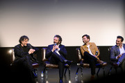 (L-R) Neil Gaiman, Michael Sheen, David Tennant and Jon Hamm at The Nice and Accurate event during SXSW at ZACH Theatre on March 09, 2019 in Austin, Texas.