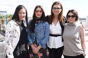 Executive producer of Project Runway Jane Cha, founder and owner of Nasty Gal Sophia Amoruso, president and CEO of Full Picture Desiree Gruber and  founder of Violet Grey Cassandra Grey attend the Google Made With Code x CODEGIRL Lunch At NeueHouse LA on November 3, 2015 in Los Angeles, California.