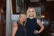 Hamptons Magazine Publisher Debra Halpert (L) and Taylor Schilling attend the Gotham Magazine VIP Dinner with Cover Star Taylor Schilling at The Lambs Club on April 23, 2018 in New York City.