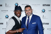Actor Taye Diggs and Arturo Pineiro attend the Gotham Men's Issue Celebration at the BMW of Manhattan Showroom on November 16, 2017 in New York City.
