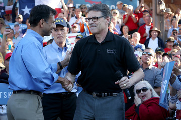 Rick Perry Bobby Jindal Gov. Rick Scott Campaigns For His Re-Election