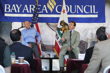Jim Wunderman Gov. Schwarzenegger Discusses State Budget With Bay Area Council Members