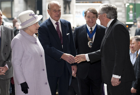 Queen Elizabeth II And The Duke Of Edinburgh Visit The Bank Of England