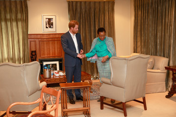 Graca Machel Prince Harry Visits Africa - Day 6