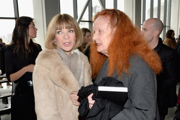Grace Coddington Front Row at the Calvin Klein Collection Show