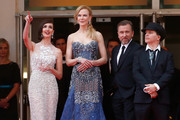 "(L-R) Actresses Paz Vega, Nicole Kidman, actor Tim Roth and director Olivier Dahan attend the Opening ceremony and the ""Grace of Monaco"" Premiere during the 67th Annual Cannes Film Festival on May 14, 2014 in Cannes, France."