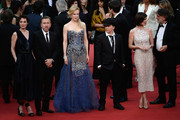 "(L-R) Actors Jeanne Balibar, Tim Roth, director Olivier Dahan and Paz Vega attend the Opening ceremony and the ""Grace of Monaco"" Premiere during the 67th Annual Cannes Film Festival on May 14, 2014 in Cannes, France."