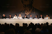 (L-R) Moderator Henri Behar, Eric Gautier, actresses Jeanne Balibar, Nicole Kidman, director Olivier Dahan, actor Tim Roth, actress Paz Vega, producer Pierre-Ange Le Pogam and screenwriter and producer Arash Amel attend the 'Grace of Monaco' press conference during the 67th Annual Cannes Film Festival on May 14, 2014 in Cannes, France.