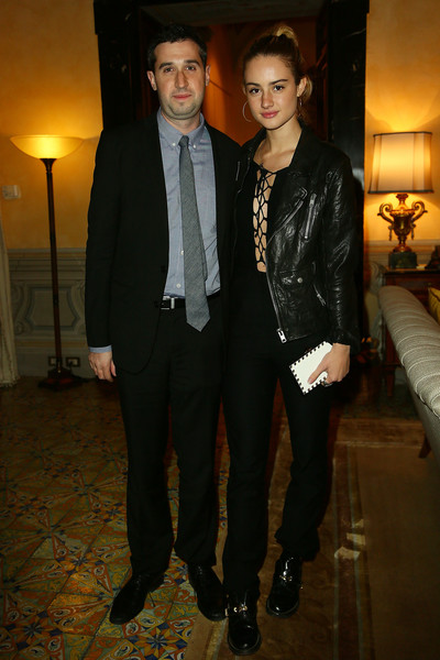 Guests Attend a Party Honouring Tom Hanks Hosted by US Embassy [party,party,us embassy,suit,fashion,formal wear,event,fashion design,tuxedo,outerwear,blazer,smile,style,rome,italy,tom hanks,grace van patten,adam leon]