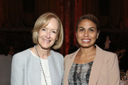 Judy Woodruff and Keisha Sutton-James attend The Gracies, presented by the Alliance for Women in Media Foundation at Cipriani 42nd Street on June 27, 2018 in New York City.