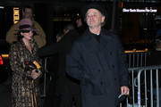 Bill Murray and Karen Duffy (L) arrive for 'The Grand Budapest Hotel' New York Premiere at Alice Tully Hall on February 26, 2014 in New York City.