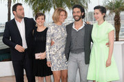 (L-R) Actor Denis Menochet, actress Camille Lellouche, Lea Seydoux, actor Tahar Rahim and director Rebecca Zlotowski attends the 'Grand Central' Photocall during The 66th Annual Cannes Film Festival at Palais des Festivals on May 18, 2013 in Cannes, France.