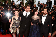 (L-R) Actress Camille Lellouche, actor Denis Menochet, director Rebecca Zlotowski and actor Tahar Rahim attend 'Grand Central' Premiere during the 66th Annual Cannes Film Festival at Palais des Festivals on May 18, 2013 in Cannes, France.