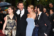 """(L-R) Actors Camille Lellouche, Denis Menochet, Lea Seydoux, director Rebecca Zlotowski and actor Tahar Rahim attends """"Jimmy P. (Psychotherapy Of A Plains Indian)"""" Premiere during the 66th Annual Cannes Film Festival at Grand Theatre Lumiere on May 18, 2013 in Cannes, France."""