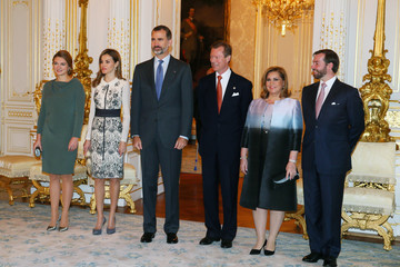 Grand Duchess Maria Teresa Of Luxembourg King Felipe VI and Queen Letizia Visit Luxembourg