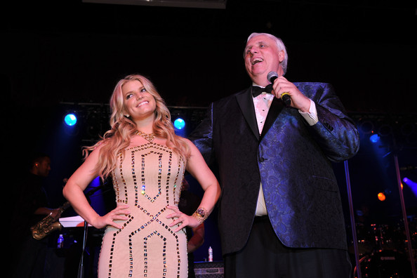 Jessica Simpson Singer and actress Jessica Simpson and Owner and Chairman of The Greenbrier Jim Justice attend the grand opening of the Casino Club at The Greenbrier on July 2, 2010 in White Sulphur Springs, West Virginia.