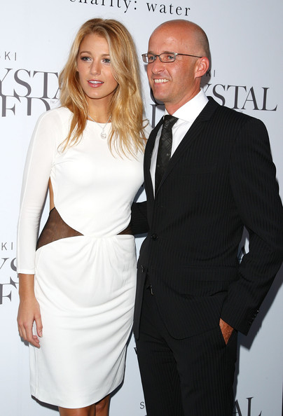 Actress Blake Lively and Senior Vice President of Marketing of Swarovski Markus Lampe attend the Swarovski Crystallized Concept store grand opening at Swarovski Crystallized Concept Store on June 25, 2009 in New York City.