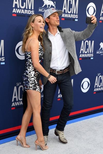 54th Academy Of Country Music Awards - Arrivals [premiere,carpet,event,footwear,leg,muscle,flooring,red carpet,dress,performance,arrivals,granger smith,nevada,las vegas,mgm grand hotel casino,academy of country music awards,amber bartlett,l]