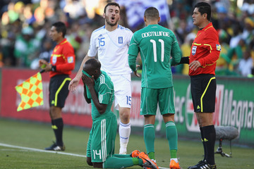 Peter Odemwingie Vassilis Torosidis Greece v Nigeria: Group B - 2010 FIFA World Cup