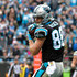 Greg Olsen Photos - Greg Olsen #88 of the Carolina Panthers catches a touchdown pass against the Green Bay Packers in the third quarter during their game at Bank of America Stadium on December 17, 2017 in Charlotte, North Carolina. - Green Bay Packers vCarolina Panthers