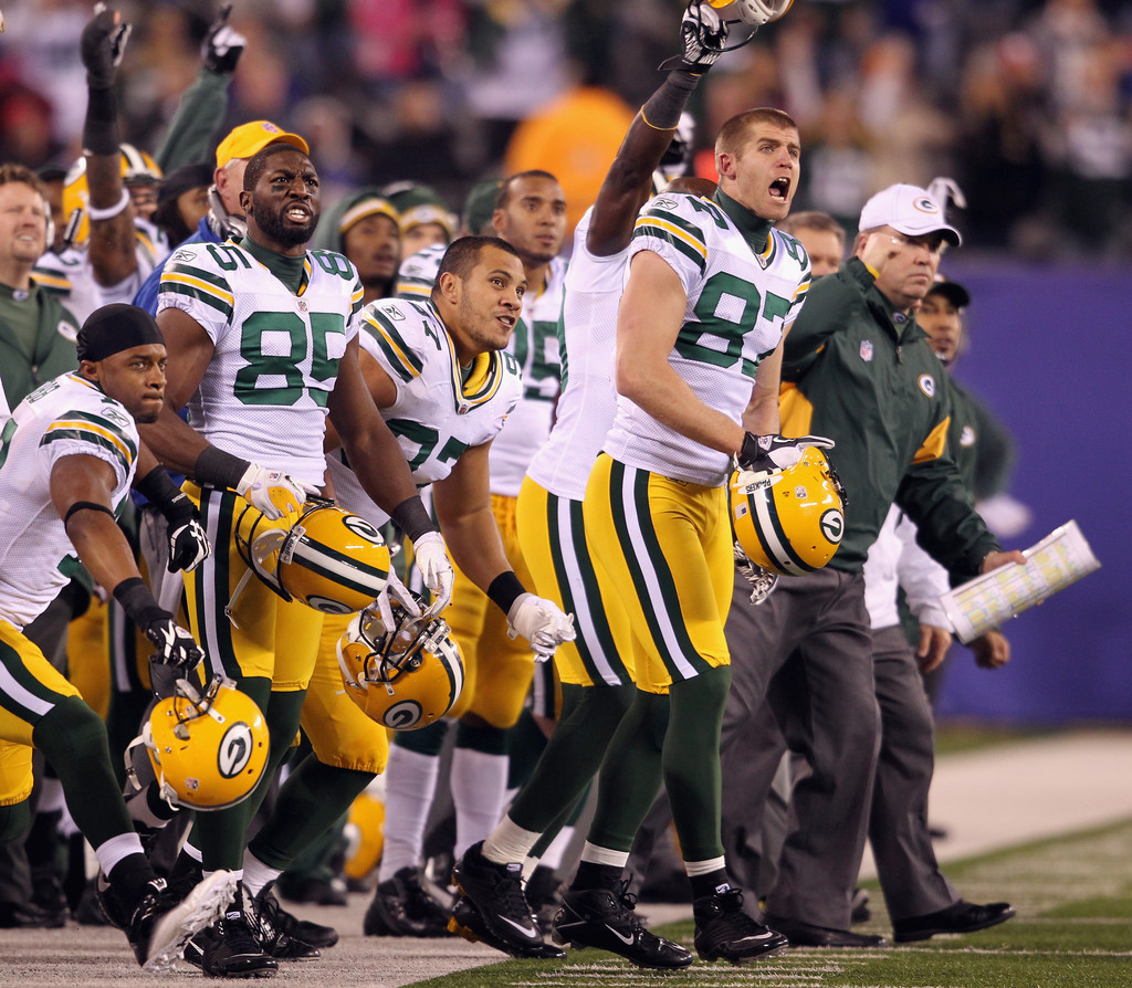 Week 11 Giants Vs Packers: Greg Jennings And Jordy Nelson Photos Photos