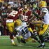 Morgan Burnett Photos - Running back Rob Kelley #32 of the Washington Redskins scores a second quarter touchdown past strong safety Morgan Burnett #42 of the Green Bay Packers at FedExField on November 20, 2016 in Landover, Maryland. - Green Bay Packers v Washington Redskins