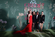 Amber Valletta, Stella McCartney, Letitia Wright and Shailene Woodley attend the Green Carpet Fashion Awards during the Milan Fashion Week Spring/Summer 2020 on September 22, 2019 in Milan, Italy.