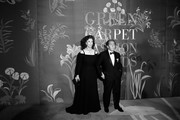 (Image has been converted to black and white.) Sophia Loren and Valentino Garavani attend the Green Carpet Fashion Awards during the Milan Fashion Week Spring/Summer 2020 on September 22, 2019 in Milan, Italy.