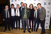 Director Luca Guadagnino and the cast of Call Me by Your Name pose with the Best Feature Film award in the GreenSlate Greenroom during The 2017 IFP Gotham Independent Film Awards at Cipriani Wall Street on November 27, 2017 in New York City.