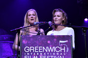 Colleen deVeer and Connie Nielsen speak on stage during The Greenwich International Film Festival Epic Anniversary Party Featuring  Kesha And Jessie's Girl at The Capitol Theatre on June 01, 2019 in Port Chester, New York.