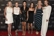 Ginger Stickel, Amy Robach,  Liz Cho, Wendy Stapleton, Colleen deVeer, Connie Nielsen attend The Greenwich International Film Festival Epic Anniversary Party Featuring  Kesha And Jessie's Girl at The Capitol Theatre on June 01, 2019 in Port Chester, New York.