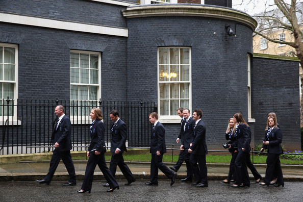 Winter Olympic Medal Winners at Downing Street