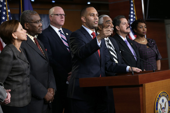 New York Lawmakers Discuss Grand Jury Decision [event,official,speech,job,government,employment,businessperson,speaker,ceremony,news conference,grand jury decision,c,new york,d,hakeem jeffries,lawmakers,nydia velazquez,charles rangel,jose serrano,yvette clarke]