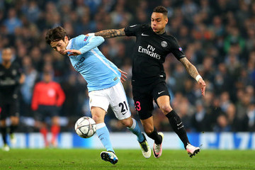 Gregory van der Wiel Manchester City FC v Paris Saint-Germain - UEFA Champions League Quarter Final: Second Leg