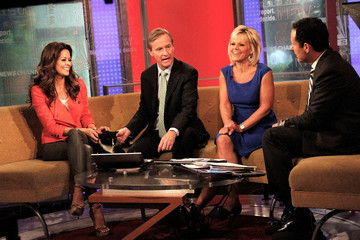 Gretchen Carlson Brooke Burke Visits 'Fox & Friends' in NYC