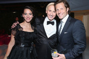 (L-R) Actress Kerry Norton, Designer David Meister and actor Jamie Bamber attend Grey Goose at 21st Annual Elton John AIDS Foundation Academy Awards Viewing Party at Pacific Design Center on February 24, 2013 in West Hollywood, California.