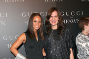 Musician Alicia Keys and Gucci President Daniella Vitale attend the Gucci cocktail party for Ffawn at Gucci Fifth Avenue on September 16, 2009 in New York City.