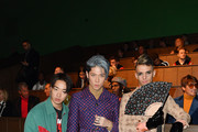 Zen, Miyavi and Achille Lauro are seen on Gucci Front Row during Milan Meanswear Fashion Week Fall/Winter 2020/21 on January 14, 2020 in Milan, Italy.
