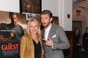 Actors Amy Ryan (L) and Dan Stevens attend 'The Guest' New York special screening at BAM on September 16, 2014 in New York City.