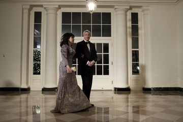 Jamie Dimon Guests Arrive At State Dinner For Chinese President Hu Jintao At White House
