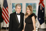 Sen. Roy Blunt, R-MO, (L) and wife Abigail Perlman Blunt arrive for the State Dinner at The White House honoring Australian PM Morrison on September 20, 2019 in Washington, DC.