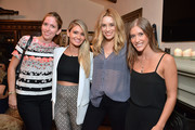 Guest, Lauren Paul, Co-Founder Kind Campaign, Arielle Vandenberg and Molly Thompson, Co-Founder Kind Campaign attend the KEEP Collective Accessories Social To Benefit The Kind Campaign on August 25, 2015 in Los Angeles, California.