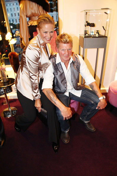 claudia effenberg in guido maria kretschmer shop opening zimbio. Black Bedroom Furniture Sets. Home Design Ideas