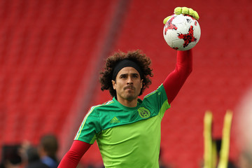 Guillermo Ochoa Mexico Training & Press Conference - FIFA Confederations Cup Russia 2017