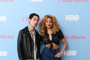 """(L-R) Lucas Goodman and Jillian Hervey of Lion Babe attend HBO's """"2 Dope Queens"""" Dope Beauty Bar at Studio 525 on February 01, 2019 in New York City."""