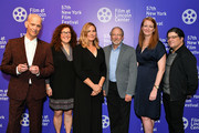 """(L-R)  John Waters, producer Julie Goldman, director Ivy Meeropol, documentary's subject Michael Meeropol, producers Carolyn Hepburn and Chris Clements attend HBO Documentary Film """"Bully. Coward. Victim. The Story Of Roy Cohn"""" World Premiere at The New York Film Festival at Walter Reade Theater on September 29, 2019 in New York City."""