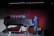 """Film subject, pianist and photographer Henry Butler performs following the HBO Documentary Screening Of """"Dark Light"""" at Lighthouse International Conference Center on November 8, 2010 in New York City."""