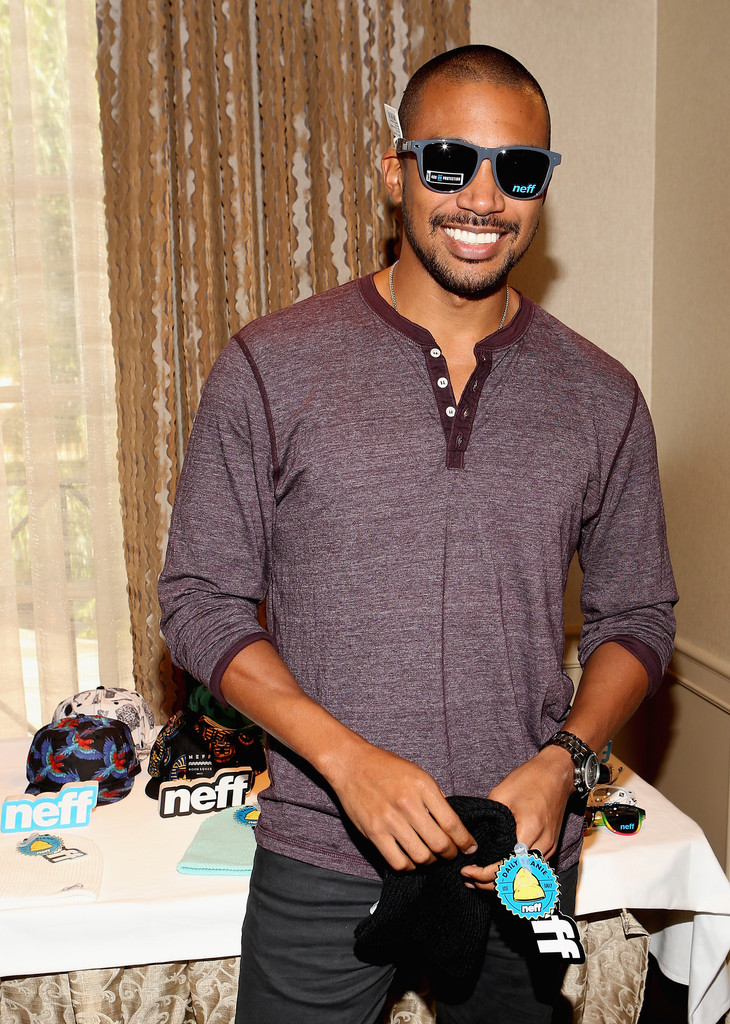 Charles Michael Davis In Hbo Luxury Lounge Day 1 Zimbio
